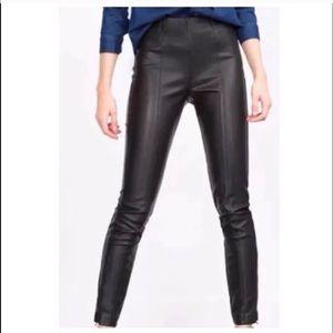 Zara skinny black leather leggings pants S/M